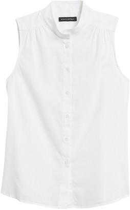 Banana Republic Cotton-Linen Sleeveless Shirt