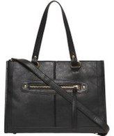 Dorothy Perkins Womens Black Mini Zip Front Tote Bag- Black