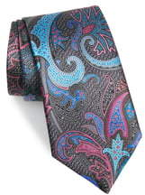 f888b8ac Quindici Paisley Silk Tie