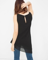 White House Black Market Layered Asymmetric Tunic