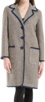 Max Studio Heathered Boiled Wool Unlined Coat