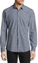 Salvatore Ferragamo Men's Passerby Cotton Sport Shirt, Gray