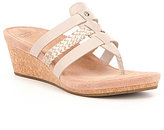 UGG Maddie Braided Metallic Wedge Sandals