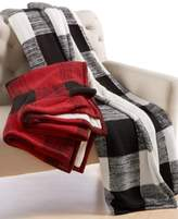 Martha Stewart Collection CLOSEOUT! Martha Stewart Collection Sweater-Knit Buffalo-Plaid Throw