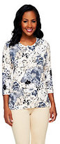 Isaac Mizrahi Live! All Over Floral Printed Cardigan