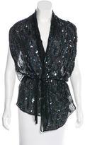 Ann Demeulemeester Silk Sequin-Embellished Vest