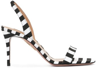 Aquazzura Striped Slingback Sandals