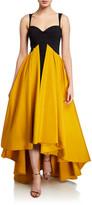 Chiara Boni Sweetheart Taffeta High-Low Sleeveless Gown