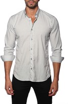 Jared Lang Striped Long Sleeve Semi-Fitted Shirt