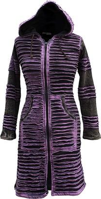 SHOPOHOLIC FASHION Womens Stonewashed Boho Hippie Gothic Long Jacket (M