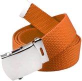 Build A Belt Classic Silver Men's Military Slider Belt Buckle with Canvas Web Belt XXX-Large