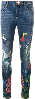 Philipp Plein Printed Slim-Fit Jeans