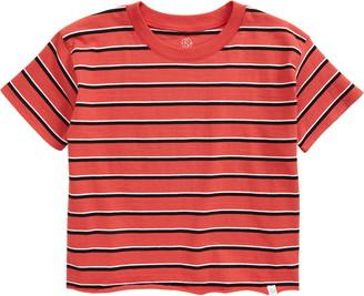 Treasure & Bond Kids' Stripe Raw Hem T-Shirt