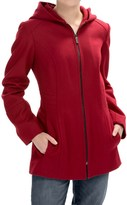London Fog Full-Zip Car Coat - Wool Blend, Hooded (For Women)