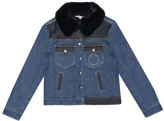 Chloé Kids Denim jacket with faux fur