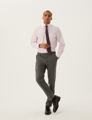 Marks and Spencer The Ultimate Charcoal Regular Fit Trousers