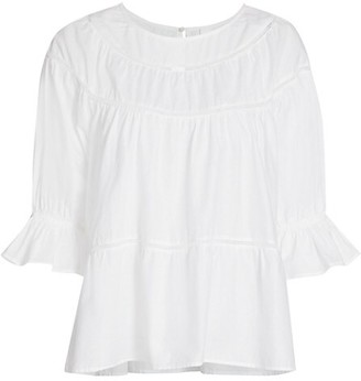 Merlette New York Sol Ruffle Cuff Top