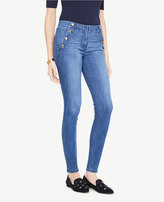Ann Taylor Sailor All Day Skinny Jeans In Ultramarine Wash