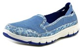 Easy Street Shoes Kacey Women Round Toe Canvas Blue Loafer.