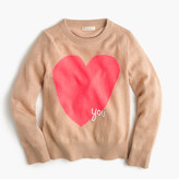 "J.Crew Girls' wool ""heart you"" popover sweater"