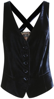 Etro Exclusive to Mytheresa Velvet vest