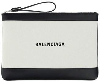 Balenciaga Logo Print Wrislet Pouch