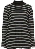 Junarose Plus Size Striped fine knit long sleeve top