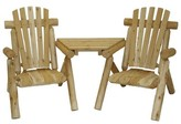 Adirondack Homer Solid Wood Chair with Table Loon Peak