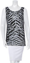 Saint Laurent Sleeveless Printed Top
