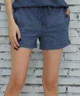 Z Avenue Women's Casual Shorts Denim - Denim Blue Pocket French Terry Shorts - Women & Plus