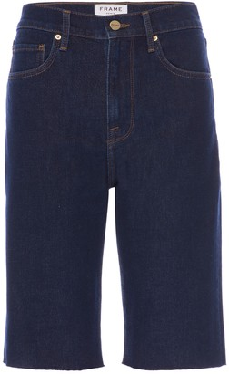 Frame Le Vintage Raw Edge Denim Bermuda Shorts