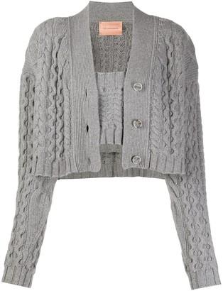 Andamane Chunky Knit Cropped Cardigan