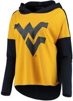 Unbranded Women's Gold West Virginia Mountaineers Missy Feature Hoodie Long Sleeve T-Shirt