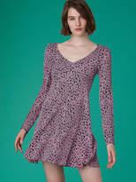 Diane von Furstenberg V-Neck Flare Dress