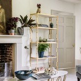 Graham and Green Hana Gold Iron And Marble Bookcase
