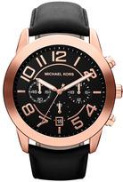MICHAEL Michael Kors Michael Kors 'Mercer' Large Chronograph Leather Strap Watch, 45mm