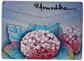 Anuschka Credit Card Case 1032 (Hypnotic Hydrangeas) Handbags