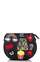 Quiz Black Patch Bag