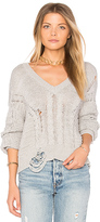 Wildfox Couture Textured Sweater in Gray. - size S (also in XS)