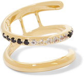 Elizabeth and James Finn gold-tone crystal ring