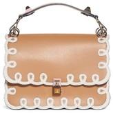 Fendi Kan I Scalloped Leather Shoulder Bag - Brown