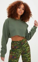 PrettyLittleThing Grey Ultimate Cropped Sweater