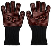 GDEALER 932°F Heat Resistant BBQ Grilling Cooking Gloves with Silicone Basting Brush