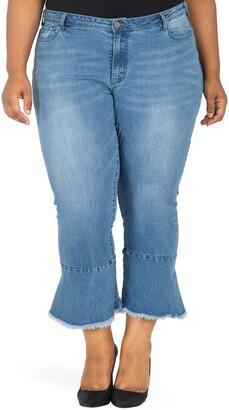 Poetic Justice Kesha Ruffle Skinny Jeans