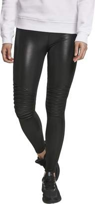 Urban Classic Women's Ladies Faux Leather Biker Leggings