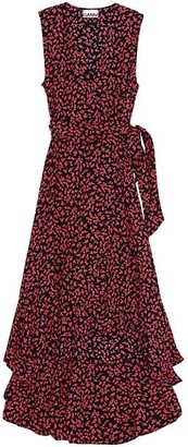 Ganni Ditsy Floral Wrap Dress