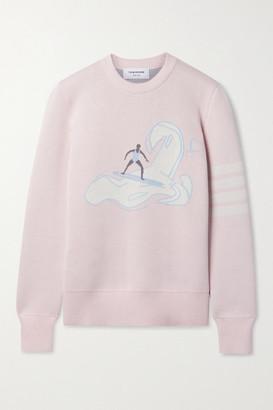 Thom Browne Cotton-blend Jacquard Sweater - Pastel pink
