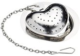 Kitchen Craft Le'Xpress Heart-Shaped Tea Infuser with Drip Tray, 1 Cup (350 ml)