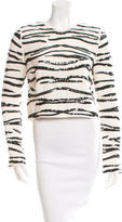 Rachel Zoe Squin Zebra Top
