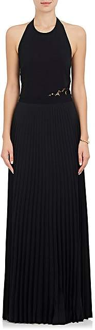 A.L.C. Women's Avalon Pleated-Skirt Halter Gown - Black